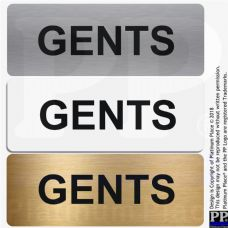 Gents-Toilet Sign-Aluminium Metal-Lavatory,Door,Notice,Office,Shop,Toilets